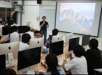 Student Join the iMac Computer Knowledge Training In Learning with Mac & Trouble Shooting