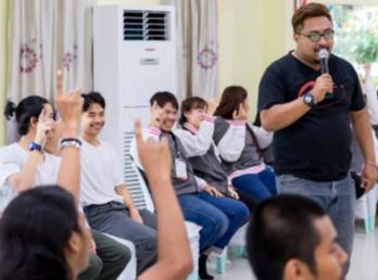 """สโมสรนักศึกษาร่วมกับฝ่ายกิจการนักศึกษา คณะเทคโนฯ จัดโครงการอบรมสัมมนาเชิงปฏิบัติการ """"ภาวะผู้นำที่ดีแห่งอนาคต"""""""