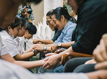 สาขาวิชาการออกแบบกราฟิกและมัลติมิเดีย จัดโครงการบายศรีสู่ขวัญ ให้กับนักศึกษาใหม่ ประจำปี 2560