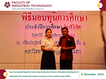 6 students from the Faculty of Industrial Technology who were rewarded the scholarship
