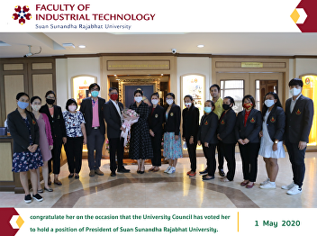 congratulate her on the occasion that the University Council has voted her to hold a position of President of Suan Sunandha Rajabhat University.
