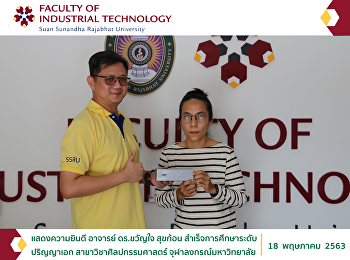 Congratulating Dr. Khwanchai Sukkon, on her doctoral degree graduation in Fine and Applied Arts, Chulalongkorn University.