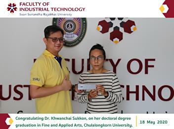 Congratulating Dr. Khwanchai Sukkon, on her doctoral degree graduation in Fine and Applied Arts, Chulalongkorn University.