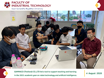 GAMMACO (Thailand) CO.,LTD led a tool to support teaching and learning  in the 2021 academic year on robot technology and artificial intelligence.gence