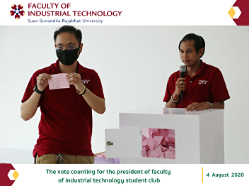 The vote counting for the president of faculty of industrial technology student club