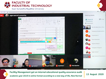 Facility Management get an internal educational quality assurance audit academic year 2019 in online format according to a new way of life, New Normal