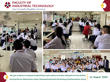 4th year students in Computer Engineering To give advice on further education for the children Learning Plan for Mathematics, Grade 5 Nawamintrachinuthit Satriwitthaya Phutthamonthon School