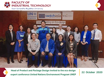 Head of Product and Package Design Invited to the eco design expert conference United Nations Environment Program UNEP