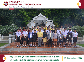 Pay a visit to Queen Sunandha Kumariratana. It is part of the basic skills training program for young people