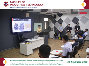 A special lecture by Head of Computer Engineering In the project to enhance basic skills for youth Robot Camp course organized by Computer Engineering Program