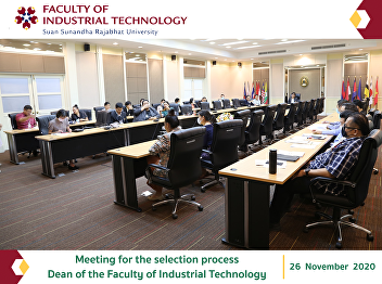 Meeting for the selection process Dean of the Faculty of Industrial Technology
