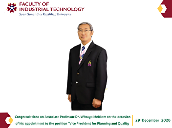 Congratulations on Associate Professor Dr. Wittaya Mekkam on the occasion of his appointment to the position