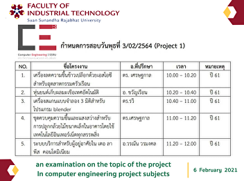 an examination on the topic of the project  In computer engineering project subjects