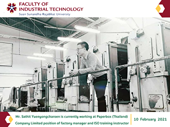 Mr. Sathit Yuenyongcharoen is currently working at Paperbox (Thailand)  Company Limited position of factory manager and ISO training instructor