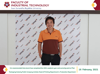 It is recommended that alumni have completed the 2001 academic year and currently work at Thai Packaging Industry Public Company Limited, Head of Printing Department 2, Production Department