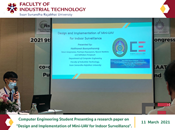 Computer Engineering Student Presenting a research paper on