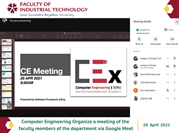 Computer Engineering Organize a meeting of the faculty members of the department via Google Meet