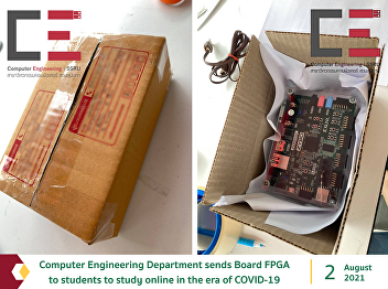 Computer Engineering Department sends Board FPGA to students to study online in the era of COVID-19