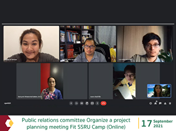 public relations committee Organize a project planning meeting Fit SSRU Camp (Online)